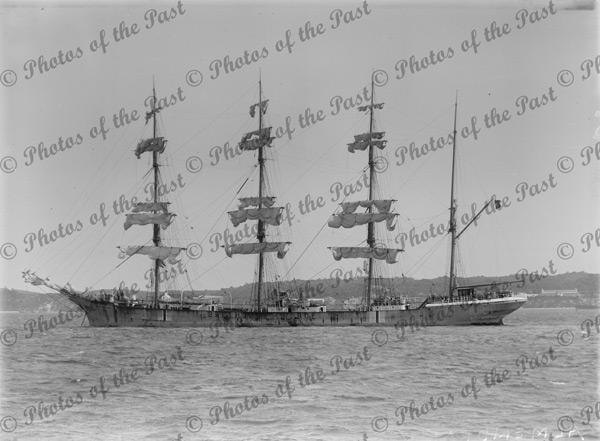 4M Barque BELLHOUSE under sail. Ship. Built 1903