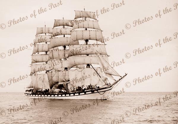 4M Barque CAROLINE ex MUSCOVA. Built 1891. Shipping