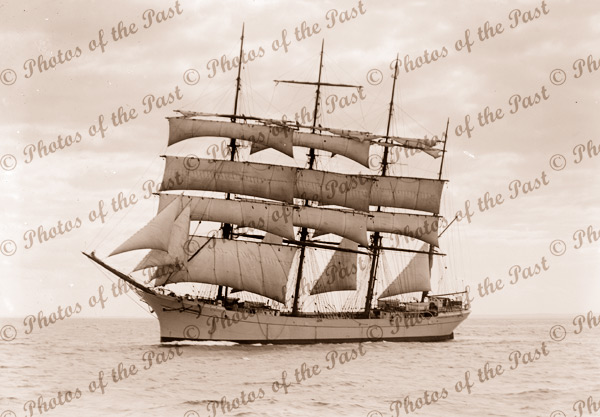 4M Barque STOVEREN under sail. Built 1892. Shipping