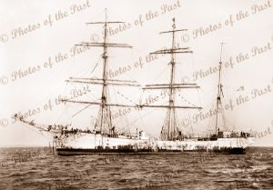 3M Barque GENERAL FOY at anchor. Built 1900. Ship