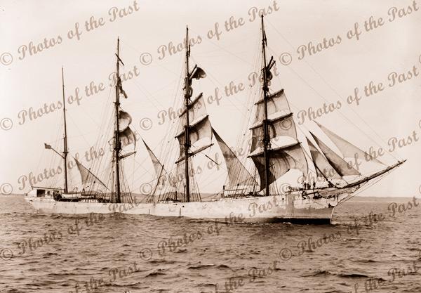 4M Barque CALEDONIA later OLIVEBANK. Built 1892. Ship
