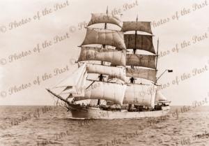 3M Barque INVERNEILL under sail. Built 1895. Ship
