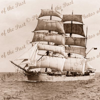 3M Barque INVERNEILL under sail. Built 1895. Ship