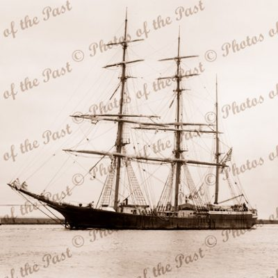 3M Barque NARWHAL under tow. Built 1883. Ship