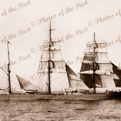 3M Barque SHANDON under sail. Built 1883. Ship