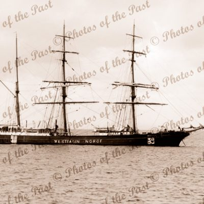 3M Barque WESTFALEN (Norwegian). Built 1889. Ship
