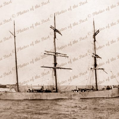 3M Barque KILMALLIE, 1519 tons, at anchor. Built 1893. Ship