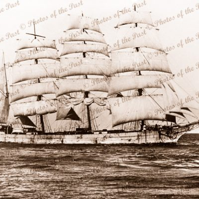 4M Barque SEILEREN under sail Ex LOCH CARRON. Built 1885. Ship