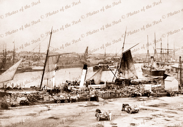 Queens Wharf, Port Melbourne, Vic. 1878. Victoria. Shipping