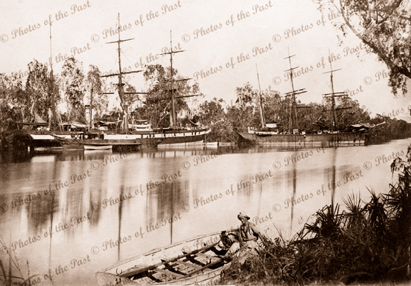 Aux Barque OMEO on Roper River, NT. Built 1851. Shipping. Northern Territory