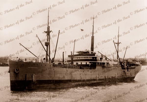 SS KANGAROO (WA Government). Built 1915. Shipping