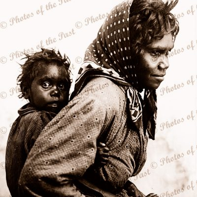 Mother and Piccaninny. c1908. Aborgine. Indigenous