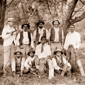 Aboriginal cricket team, Victoria. c1900s