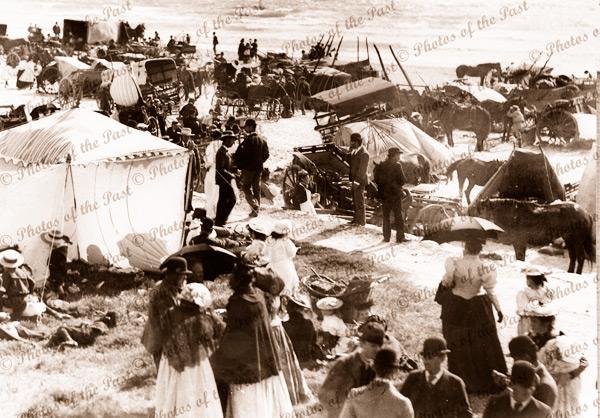 Commemoration Day at Glenelg. SA. 1890s. beach. South Australia