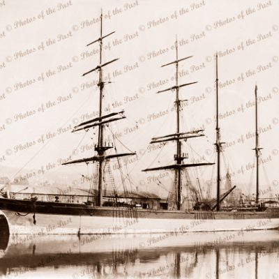 4M 'Jackass barque CITY OF ADELAIDE at wharf built 1864.Shipping.