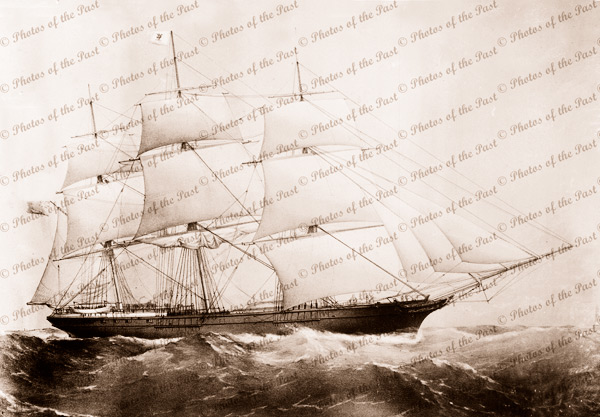 3M Ship CITY OF ADELAIDE under sail (painting). Built 1864