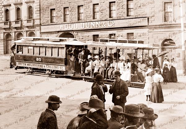 Cable tram, Market Street, Melbourne, Vic.1880. Victoria