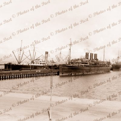 Steamers Port Melbourne Pier including SS NARKUNDA. Vic. Victoria. Shipping