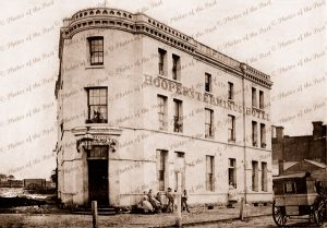 Terminus Hotel, Mercer St. Geelong, Vic.Victoria. 1861