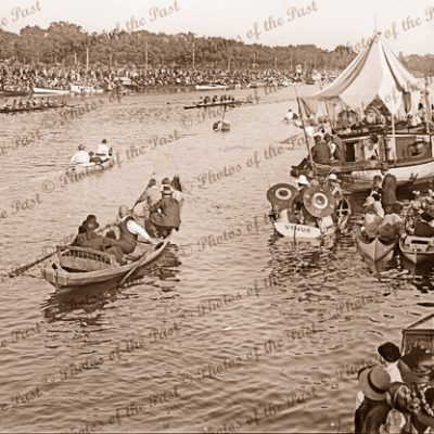 Henley on Yarra. Founder Challenge rowing race. Vic. Victoria. 1925. Melbourne
