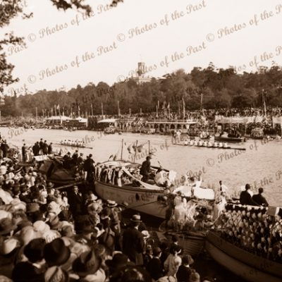 Henley on Yarra Regatta. Rowing race. Vic. C1920s. Victoria