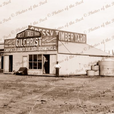 Gilchrist's Store at Cressy, Vic. c1910. Victoria