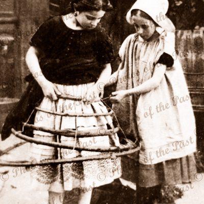 Making a Crinoline. 1860s