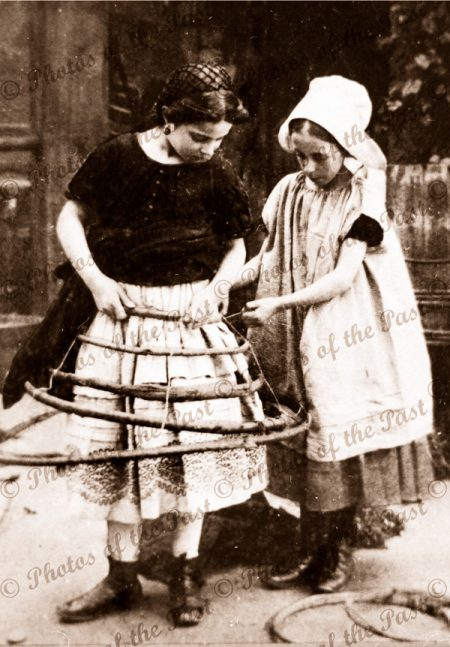 Making a Crinoline. 1860s