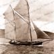Ketch GOOD INTENT (35 tons), under sail. Built 1877. Shipping