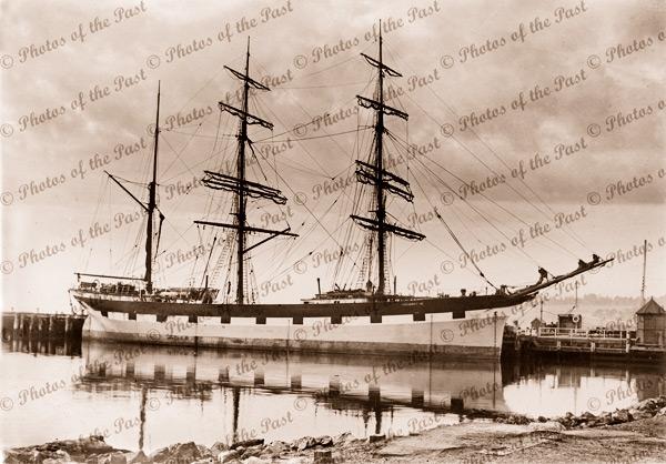 Barque MARJORIE CRAIG at wharf. Shipping