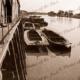 Barges at Morgan, SA. River Murray. South Australia c1925