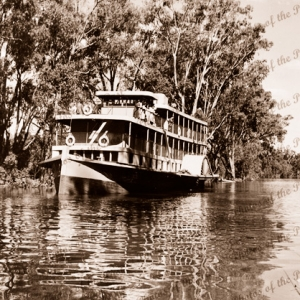 MV COONAWARRA at Milang, SA. South Australia. River boat. Murray River. c 1934