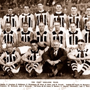 Port Adelaide Football Team - with names. SA. South Australia 1932. Aussie Rules. SANFL