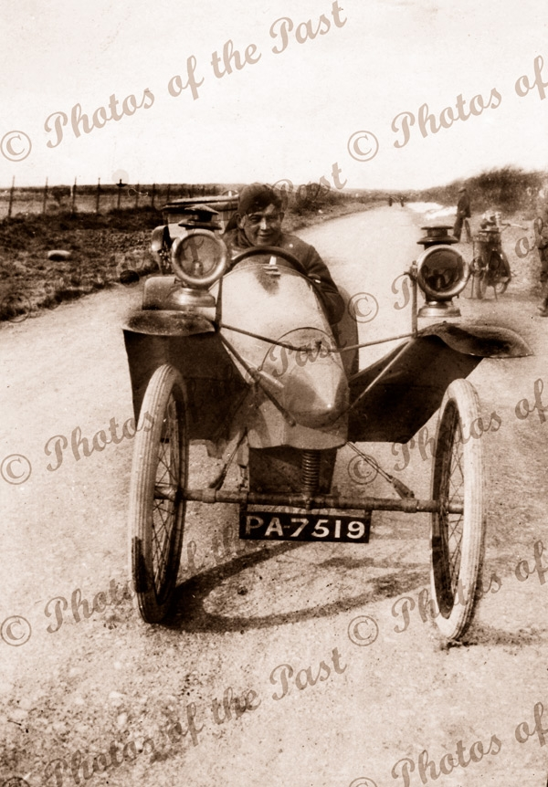 Aviator Harry Butler's 'Tooth-pick' car. c1920