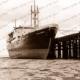 MV KOOJARRA, high and dry at old Broome jetty, January 1957. Western Australia. Shipping