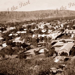 Alice Springs township from Anzac Hill, NT. Northern Territory. 1956