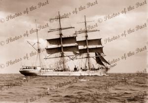 3M Barque MARECHAL de TURENNE. Built 1899. Shipping