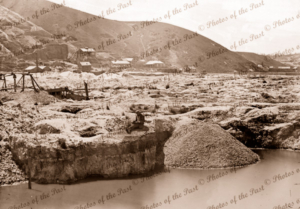 Black Hill gold mining, Ballarat, Vic. c1861. Victoria