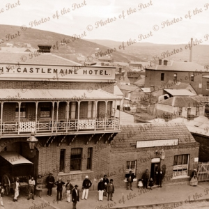 Castlemaine Hotel, Hargraves St, Vic. Victoria. c1861