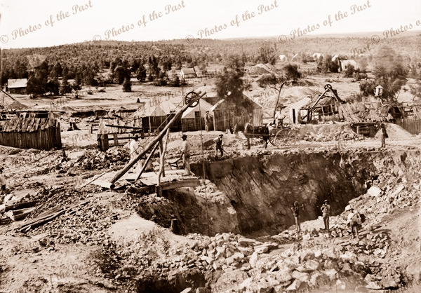 Gold mining. Possibly near Castlemaine, Victoria. c1861