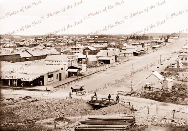 Mitchell St, Bendigo, Victoria. c1861
