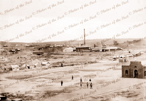 Looking across Market Square, Castlemaine, Victoria. 1861
