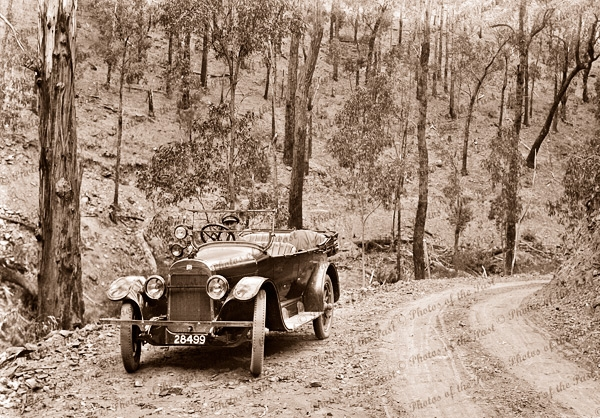 Great Ocean Road near Lorne, Victoria. Car 1920s