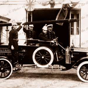 Kadina Fire Brigade, SA. South Australia. C1921. Fire Truck