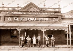D. Fowler, Blacksmith & Wheelwright, Ararat, Victoria. c1890