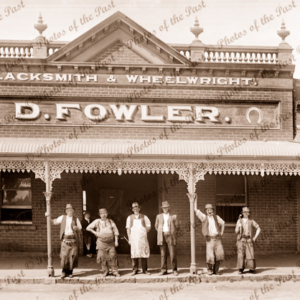 D. Fowler, Blacksmith & Wheelwright, Ararat, Victoria. c1890