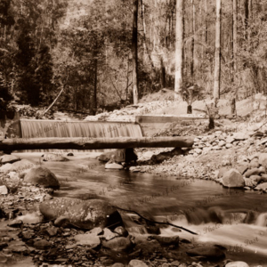 Weir across Badger Creek, Victoria c1910s