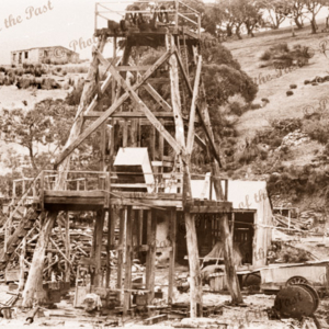 Main Shaft at Talisker Mine, SA. South Australia. C1890s