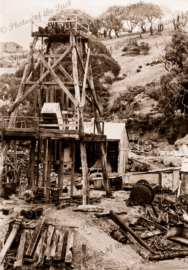Talisker Mine, Cape Jervis, SA. South Australia. C1890s