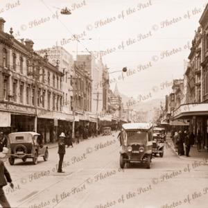 Liverpool Street, Hobart, Tasmania. C1924. cars